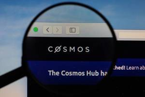 Cosmos logo under magnifying glass