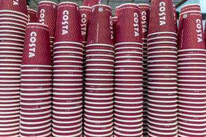 Costa coffee cardboard cups