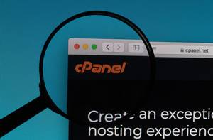 cPanel logo under magnifying glass