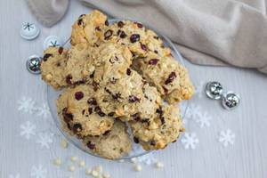 Cranberries and White Chocolate Cookies   Flip 2019