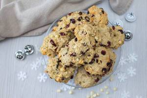 Cranberries and White Chocolate Cookies