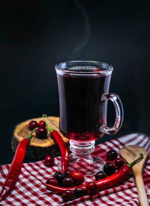 Cranberry And Chilly Hot Drink