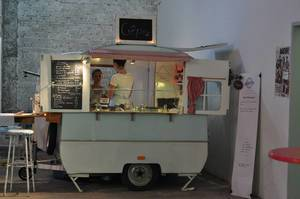 Crepes-Stand auf Street Food Festival