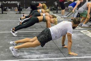 Crossfit training at FIBO Cologne 2018