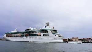 Cruise ship at the port of Venice