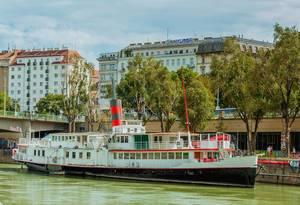 Cruise ship in Vienna