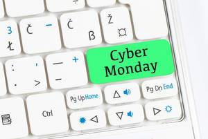 Cyber Monday green keyboard button
