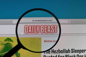 Daily Beast logo under magnifying glass