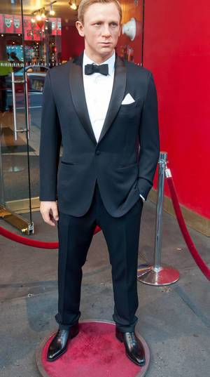Daniel Crag (James Bond) vor Madame Tussauds