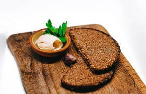 Dark Bread with Garlic Butter