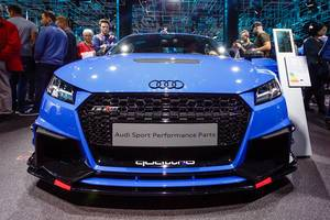 Das Audi Modell Sport Performance Parts bei der IAA 2017 in Frankfurt am Main