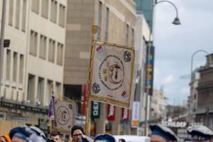 Das Banner des Große KG Greesberger Vereins - Kölner Karneval 2018
