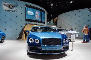 Das Bentley-Modell Flying Spur bei der IAA 2017 in Frankfurt am Main