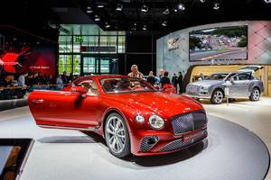 Das Bentley-Modell New Continental GT bei der IAA 2017 in Frankfurt am Main