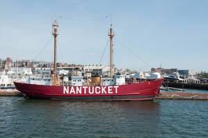 Das Feuerschiff Nantucket in Boston, USA