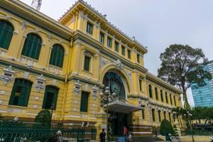 Das Gebäude der Zentralen Postbehörde in Saigon
