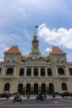 Das Gebäude des Ho Chi Minh Volkskomitees