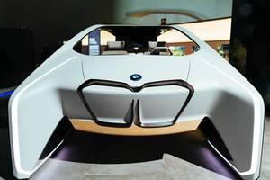 Das Konzept von autonomem Fahren für die Zukunft, von BMW entwickelt