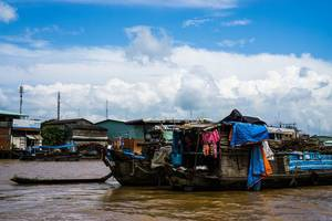 Das Leben der Anwohner des Mekong Deltas
