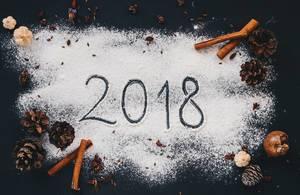Das Neujahr kommt: 2018 geschrieben auf Mehl und saisonale Zutaten
