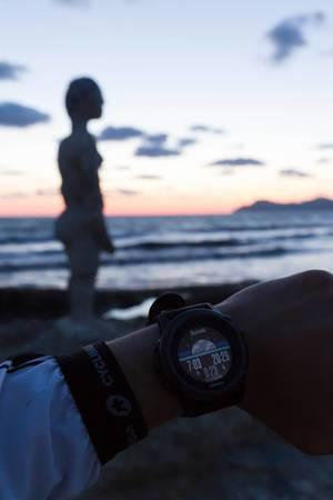 Das Warten auf den Sonnenuntergang am Strand Playa de Son Bauló, Ca