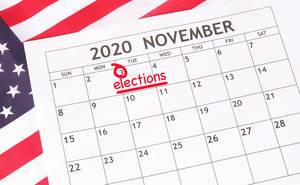 Date 3rd November 2020 marked in calendar with elections text