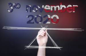 Date 3rd November 2020 on the scale