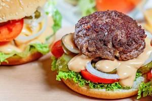 Delicious Burger close-up