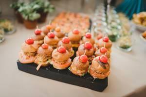Delicious Mini Burgers On Wooden Board (Flip 2019)