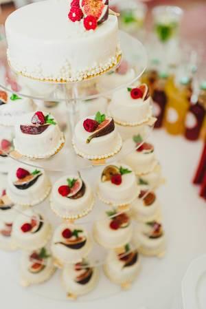Delicious White Mini Cakes On A  Stand (Flip 2019)