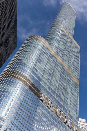 Der 98-stöckiger Trump Tower in Chicago