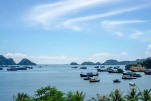 Der Blick vom Hotelzimmer auf der Cat Ba Insel