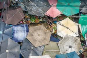 Der China-Town Markt in Ho Chi Minh City - Luftaufnahme