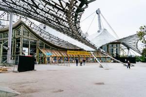 Der Eingang zum Olympiastadion in München