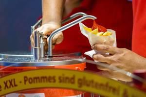 Der Fastfood-Klassiker auf Messen: Pommes mit Ketchup
