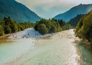Der Fluss Isonzo / Soča / Sontig