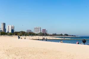 Der Strand North Avenue Beach in Chicago