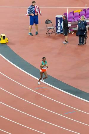 Dera Dida (10.000 Meter Lauf) bei den IAAF Leichtathletik-Weltmeisterschaften 2017 in London