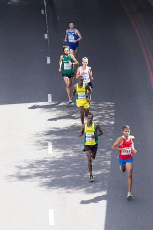 Derlys Ayala und weitere Läufer (Marathon Finale) bei den IAAF Leichtathletik-Weltmeisterschaften 2017 in London