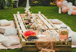 Dessert Lily Table For A Party With Fruits And Fresh Food (Flip 2019)