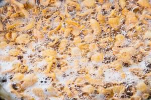 Detail shot of deep fried tempura