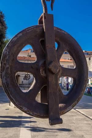 Detial on Five wells square Zadar, Croatia