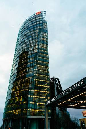 Deutsche Bahn headquarters building at Potsdamer Plaz in Berlin
