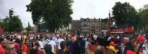 Deutsche Fans mit DFB Fanclub in Lille