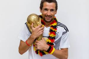 Deutscher Fußballfan träumt vom Weltmeister-Titel in Russland