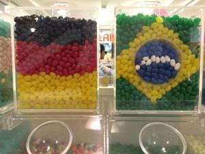 Deutschland gegen Brasilien aus Zucker