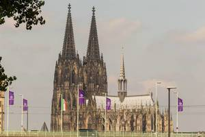 Deutz Bridge and Cologne Cathedral in the background