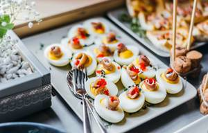 Deviled Eggs With Herring And Caviar