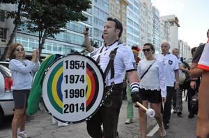 DFB-Fan-Umzug von der Copacabana zum Maracana-Stadion am 13.07.2014