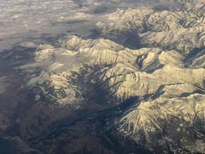Die Alpen von weit oben
